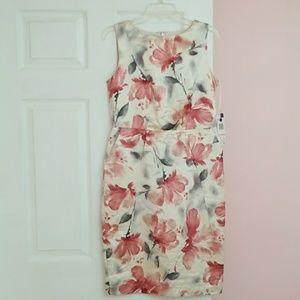 NWT Jones New York Flowers Midi Dress